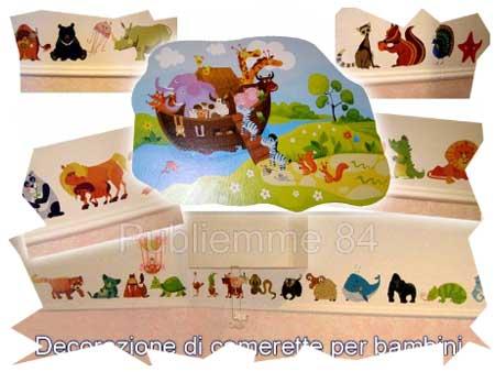 Adesivi per pareti digital murales publiemme 84 - Muri camerette bambini ...